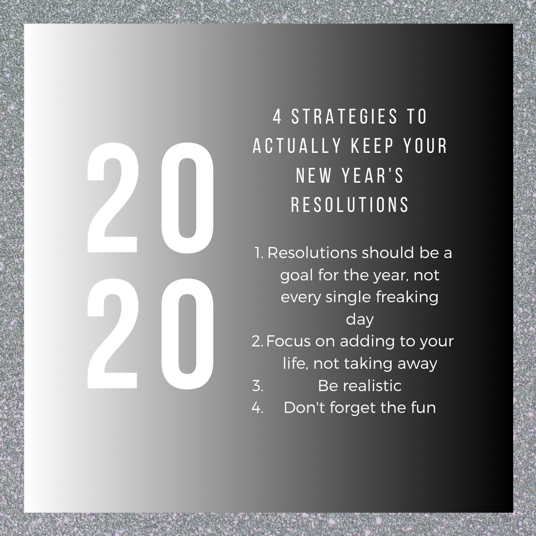 4 strategies to actually keep your New Year's resolutions.
