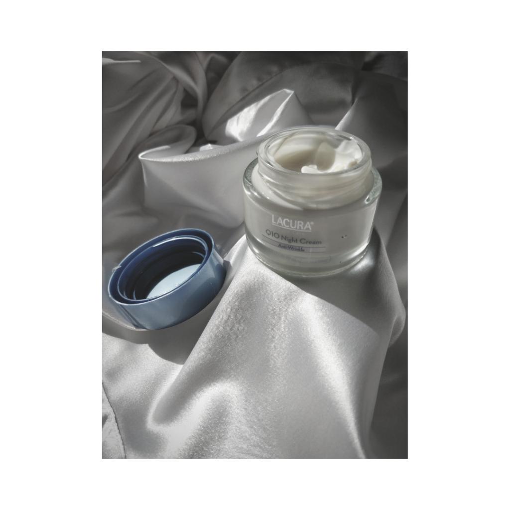Lacura Face Care Q10 Night Cream Anti Wrinkle container