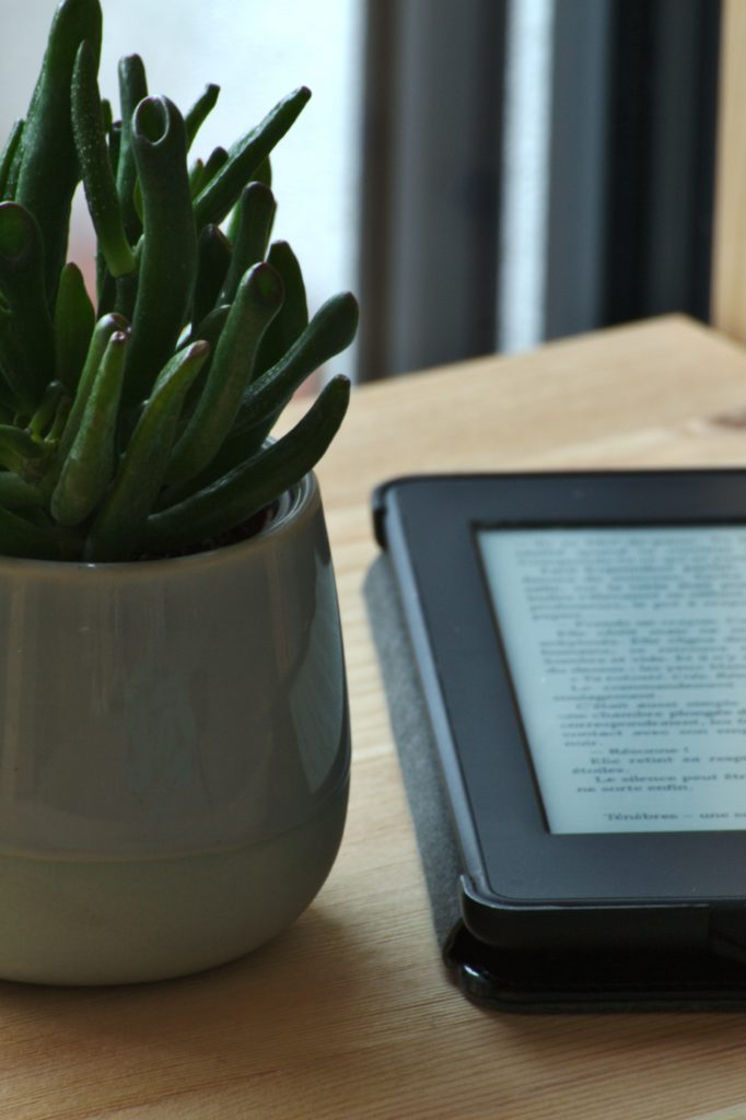 Kindle device using the OverDrive app