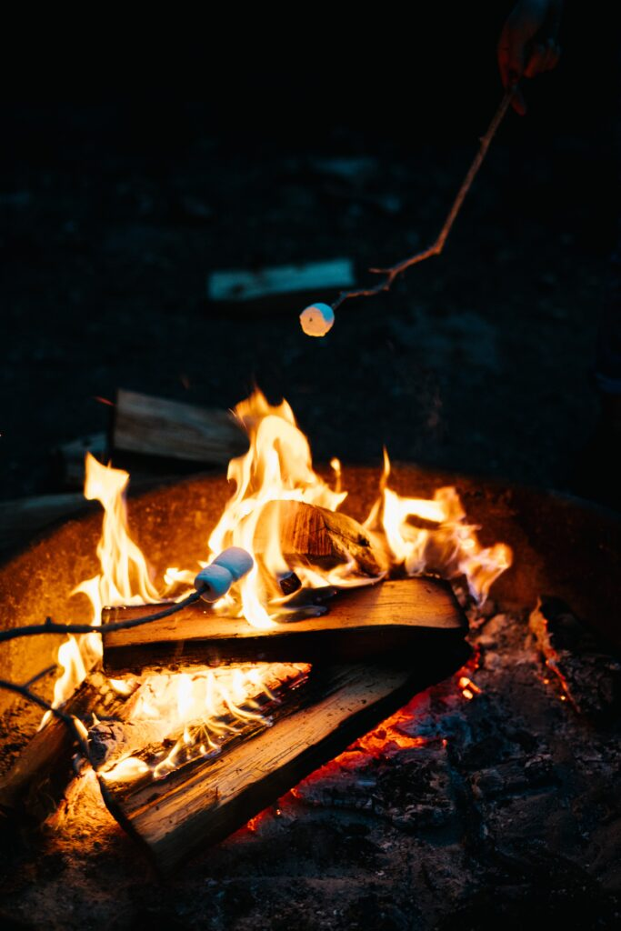 bonfire with s'mores