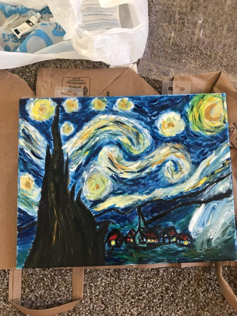 Van Gogh Starry Skies paint by number