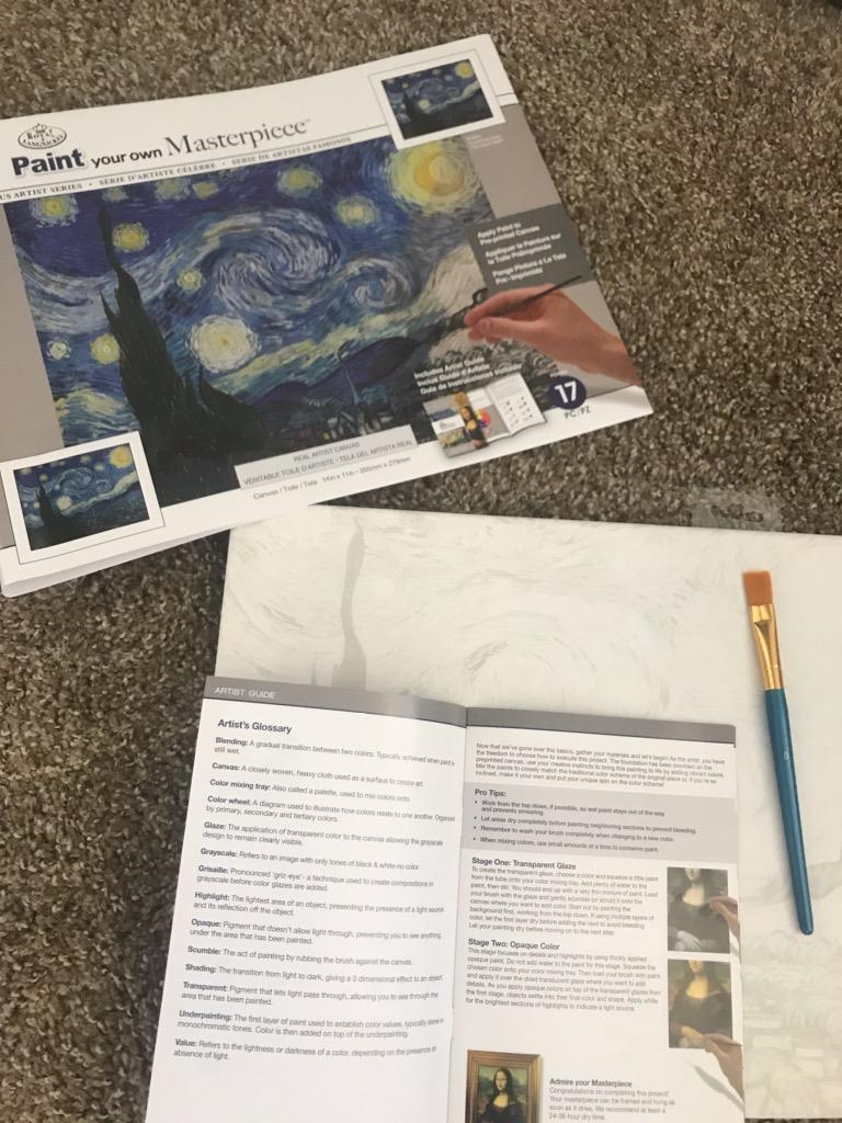 Paint-by-number Van Gogh