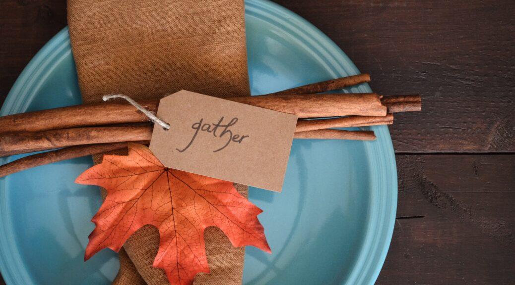 Thanksgiving plate setting