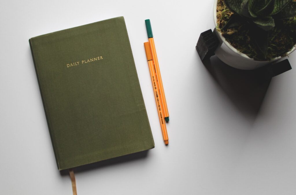 Daily planner for no-buy year