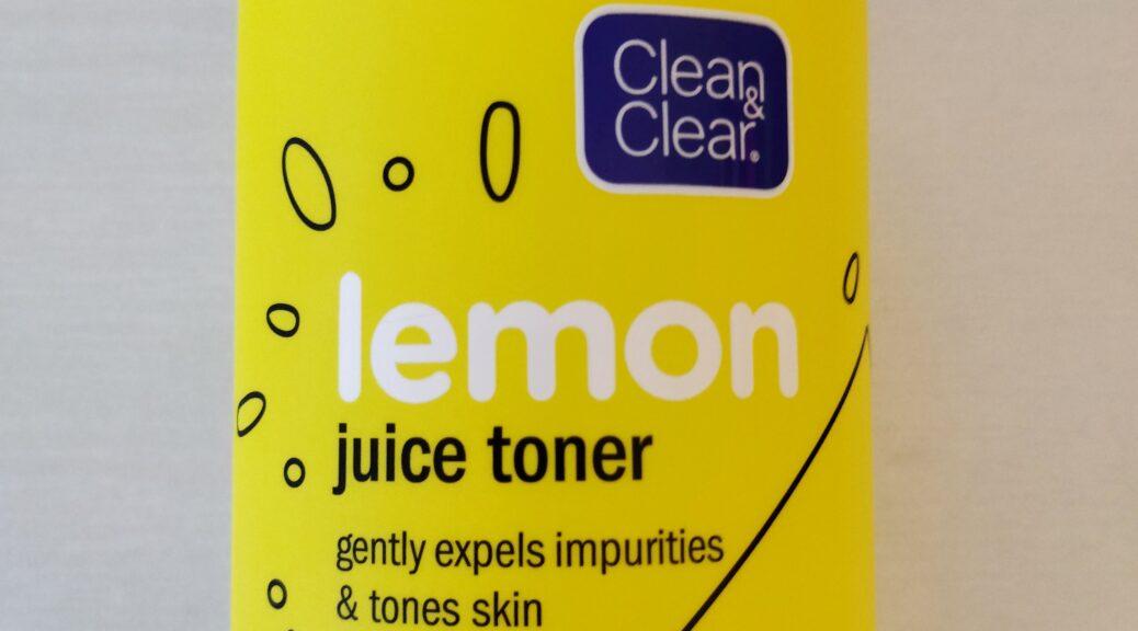 clean & clear lemon juice toner